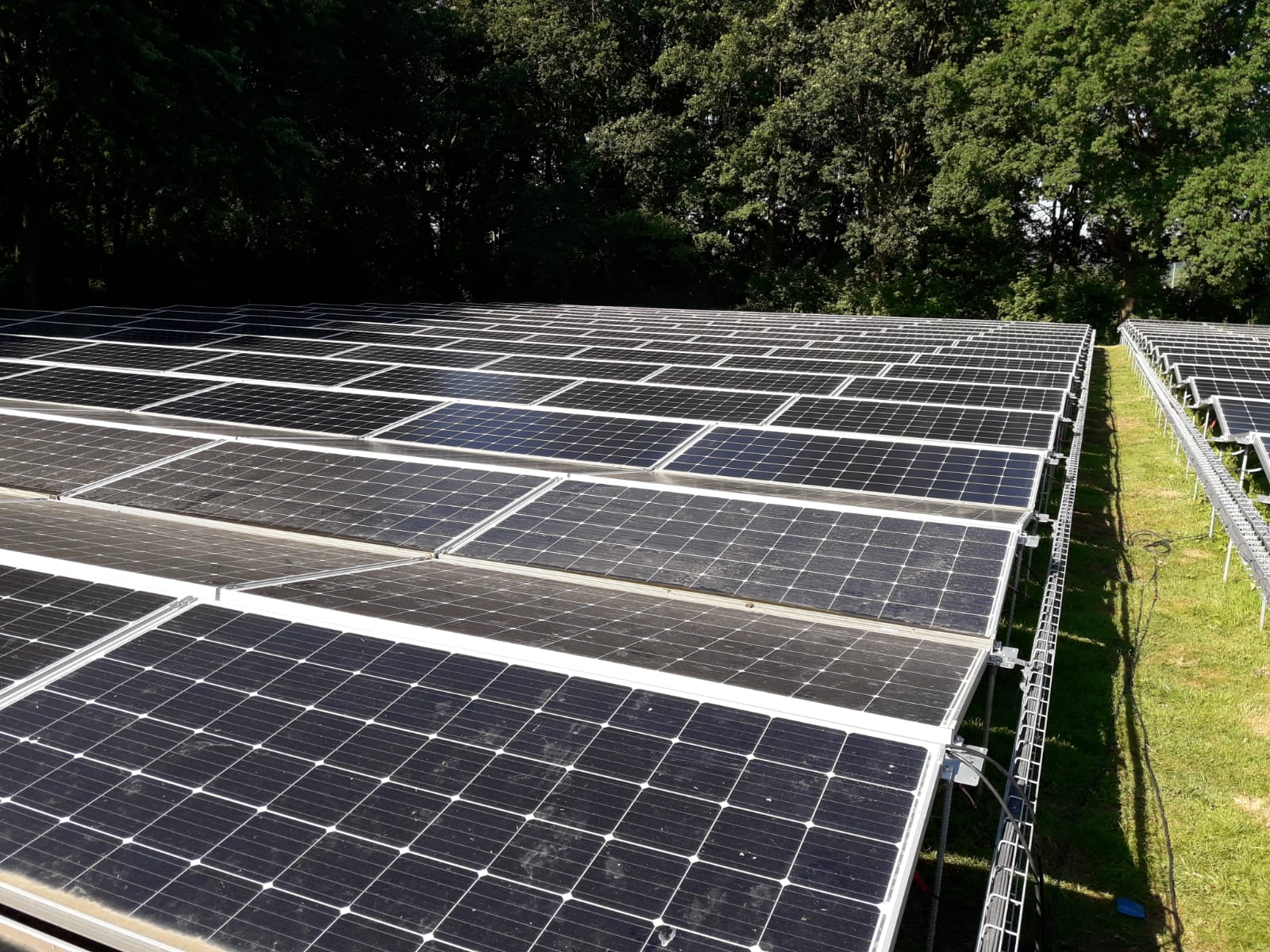 reiniging solarpark